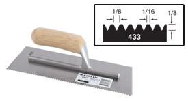 Vitrex Notched Adhesive Trowel Square 6mm Soft Grip Handle 11x4.1//2in VIT102953T